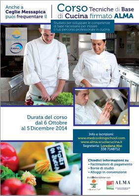 Locandina corso di cucina Alma in Puglia